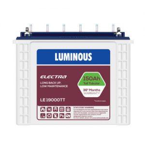 LUMINOUS 150AH 12V TUBULAR BATTERY