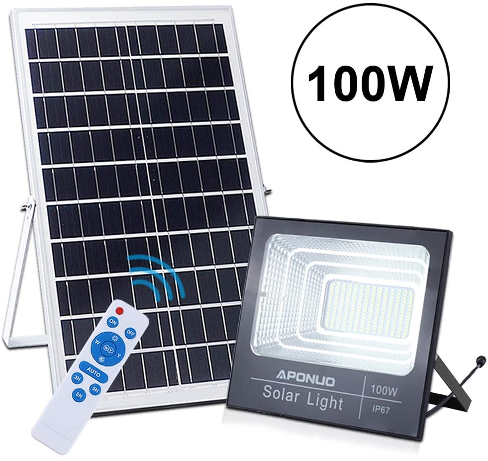 100watt Street Flood Light with Remote Control and Motion Sensor